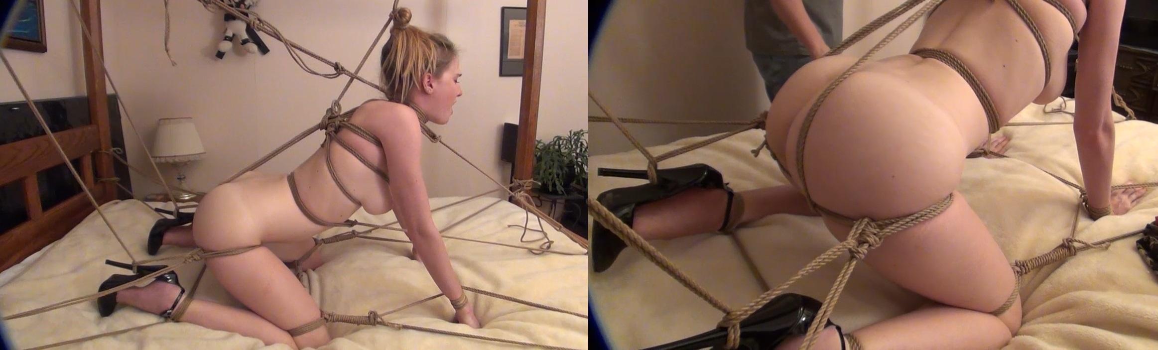 Bondage Tied Up Tight In Ropes